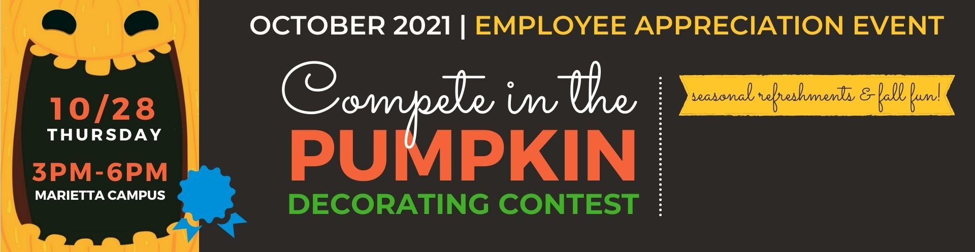 Form a team and decorate a pumpkin!