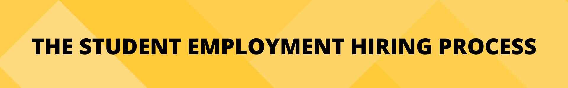 Student Employment Hiring Process button