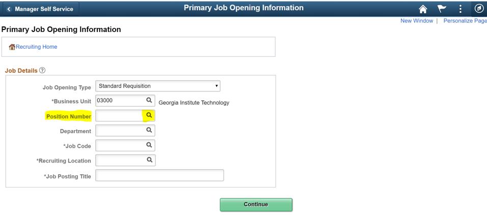 OneUSG Careers screen shot - create job opening
